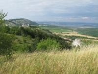 pohled na Pálavu ze stolová hory na Klentnicí